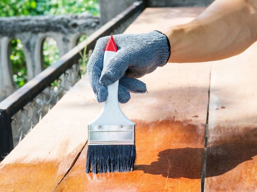 staining wood service London